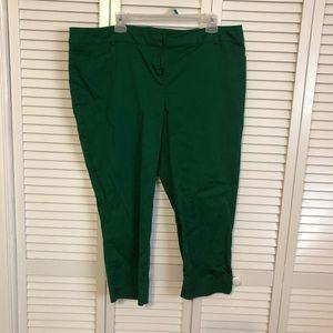 Green capri dress pants. Very good used condition.